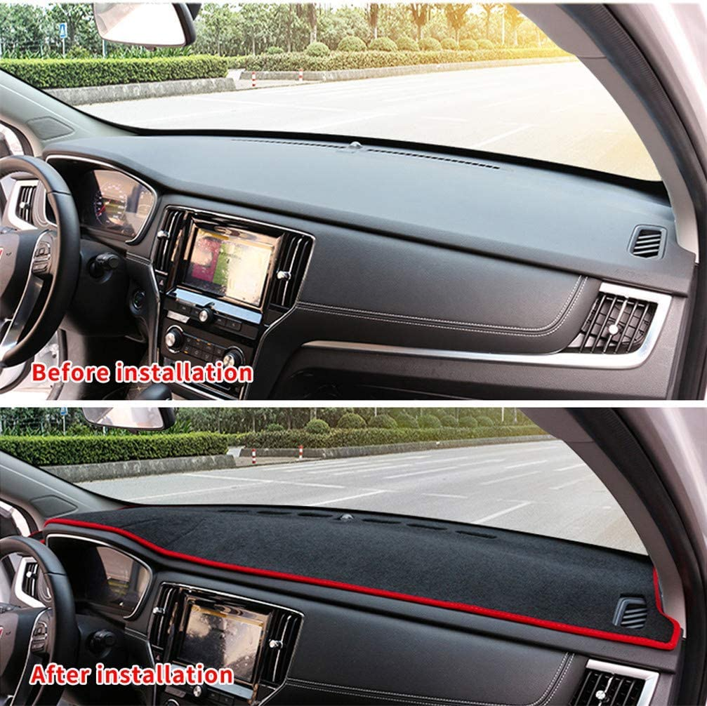 WANLING Dashboard Cover Custom for Nissan D22 Dash Cover DashMat Black Thread