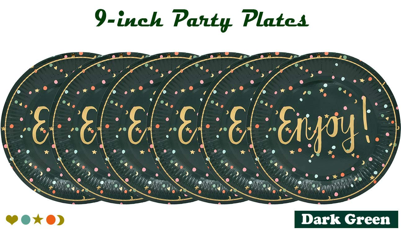 9-inch Paper Plates Decorative Tableware Appetizer Dessert Plates for Summer Fruit Theme Parties Watermelon, Orange, Kiwifruit ZEALAX Tutti Frutti Disposable Party Plates 12ct