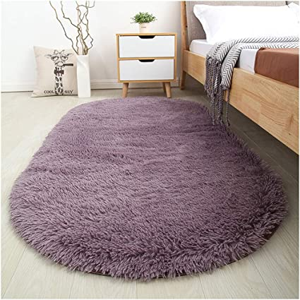 Amazon Com Sanmu Soft Velvet Silk Rugs Simple Style Modern Oval