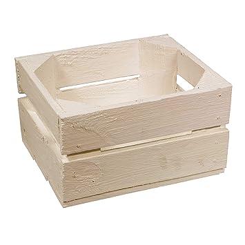 Kistenbaron Holzkiste Weinkiste Obstkiste als Aufbewahrung oder zur Dekoration 40x25x15cm Geflammt