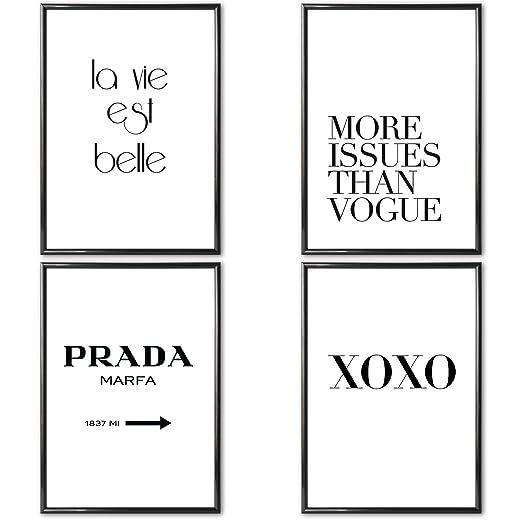 Verschiedene Poster Set S Prada Marfa 4 X Din A4 Auch Mit