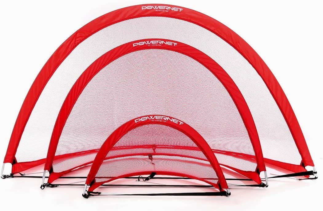 PowerNet Popup Soccer Goals Max 62% OFF Portable 2 Goals+1 A surprise price is realized Ba Net Carrying