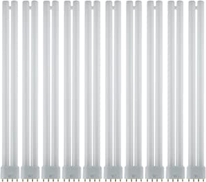 Sunlite FT36DL/830/10PK FT 36W 16 Inch/1.3 Foot Twin Tube Fluorescent Ceiling Light Fixtures, 4-Pin (2G11) Base, 3000K Warm White, 10 Pack, 3000K-Warm, 10 Count