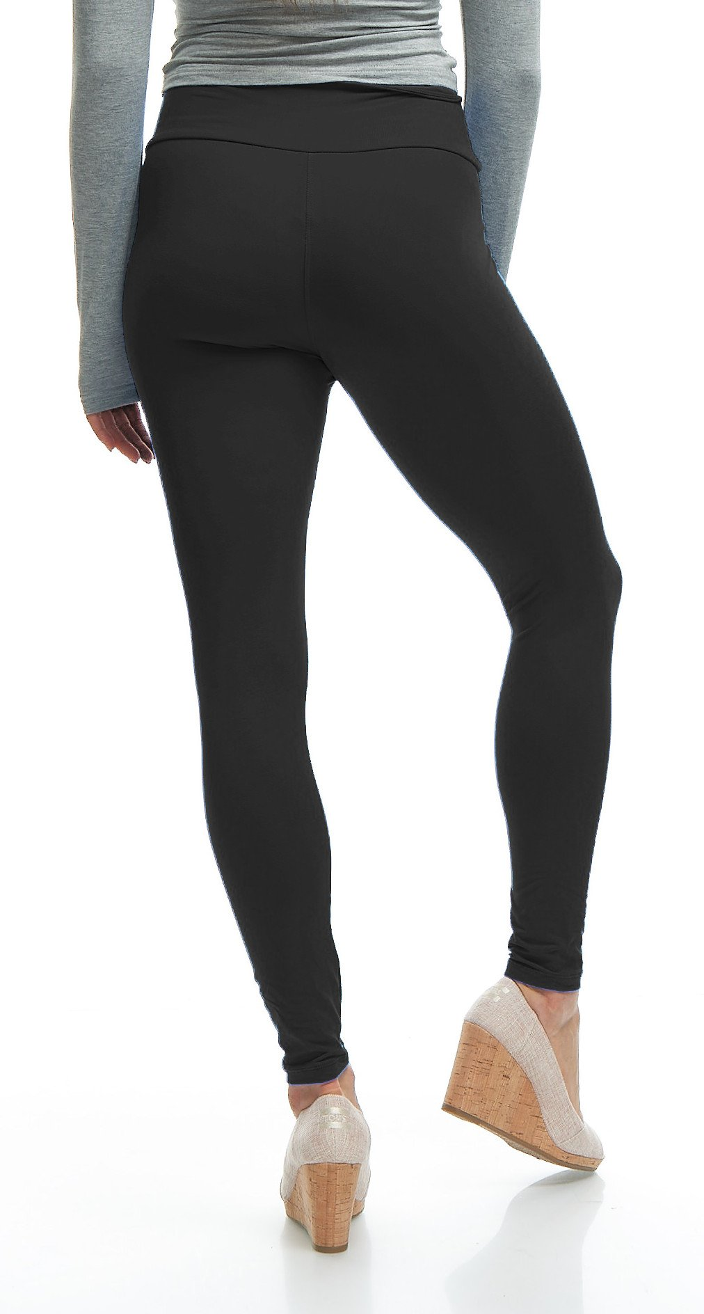 LMB Yoga Leggings Buttery Soft Material - Variety of Colors - Black by LMB (Image #7)