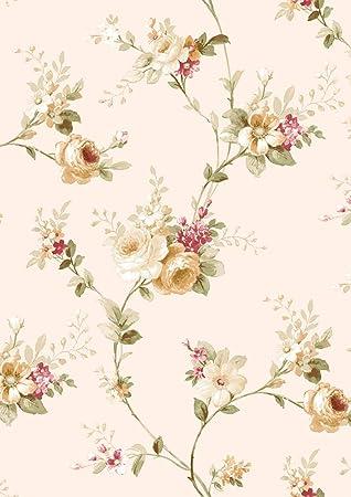 hoch dekorative geprägte Vinyltapete Rosenmuster klassisch absolutes Highlight