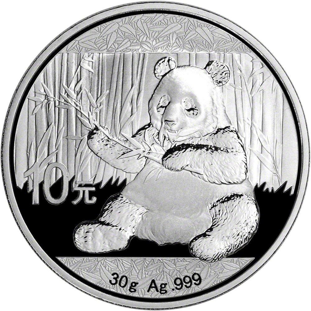 2017 CN China Silver Panda (30 g) 10 Yuan Brilliant Uncirculated China Mint