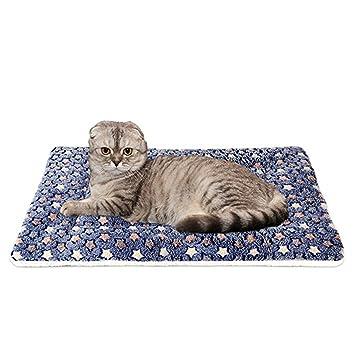WYSBAOSHU Calentar Mascota Cobija súper Suave Perro Gato Cama Estera(XL:70 * 100cm,Azul Oscuro): Amazon.es: Productos para mascotas