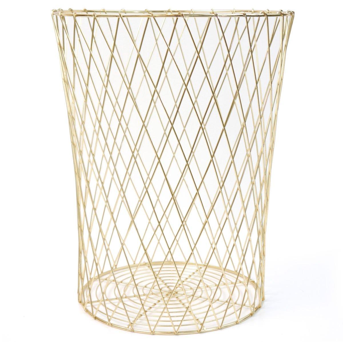 Papierkorb Korb Metall gold HÜBSCH Design modern: Amazon.de: Küche ...