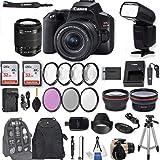 "Canon EOS Rebel SL3 DSLR Camera with EF-S 18-55mm f/4-5.6 is STM Lens + 2Pcs 32GB Sandisk SD Memory + Digital Flash + Filter & Macro Kits + Backpack + 50"" Tripod + More"