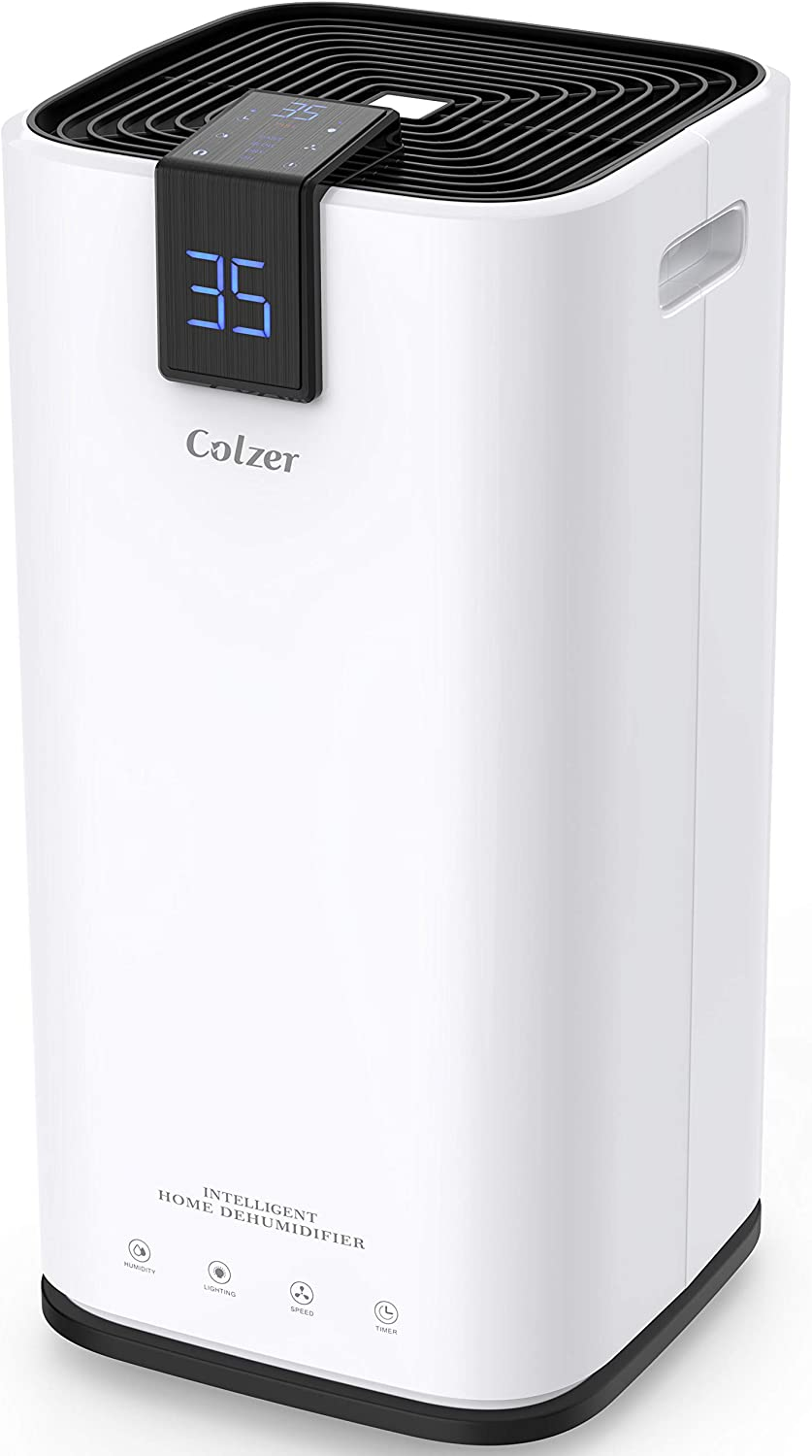Amazon Com Colzer 70 Pints Home Dehumidifiers For 4 500 Sq Ft Basements Large Rooms Large Removal Capacity With 7 4 Pint Water Bucket Continuous Drain Hose For Self Draining