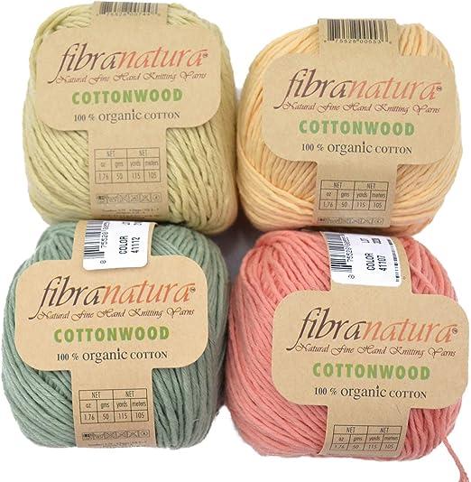 Cottonwood - Juego de Hilo para Ganchillo #2, 100% algodón ...