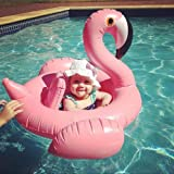 Nearly Natural Décor flamingo Shape Inflatable Baby Kids Float Seat Swimming Boat Ring