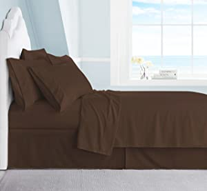 Swift Home Premiere 1800 Collection Brushed Microfiber - 4 Piece Sheet Set(Includes 1 Bonus Pillowcase), Twin, Brown