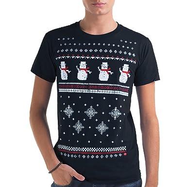 5a683ba6 Jolly Clothing Mens Christmas Snowman T-Shirt -Navy-Comfy Alternative to a Christmas  Jumper.: Amazon.co.uk: Clothing