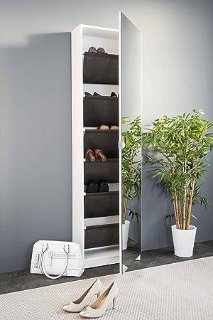 Lifestyle4living Schuhschrank In Modernem Weiß Mit Praktischer