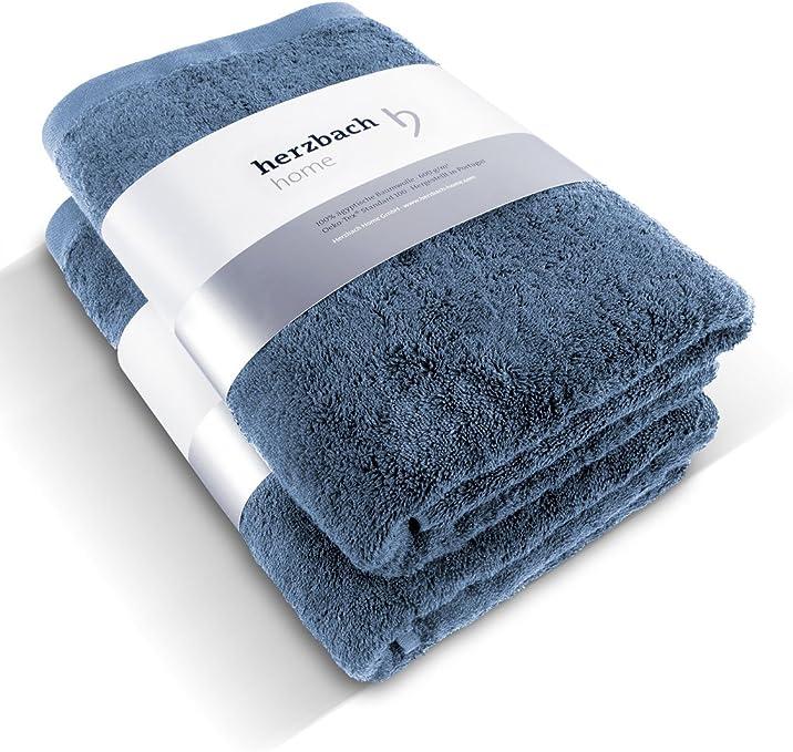 Herzbach Home - Juego de 2 toallas de mano de algodón egipcio de ...