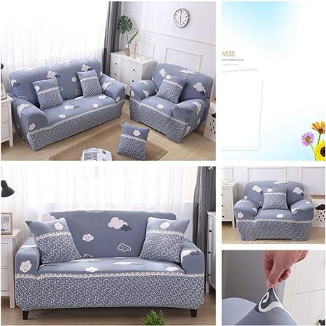 Liziyu Funda de sofá Impresa Cubierta de sofá elástico,Sofá ...
