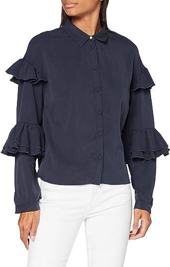 TALLA 42 (Talla del Fabricante: Large). find. Blusa Mujer Azul (Navy) 42 (Talla del fabricante: Large)
