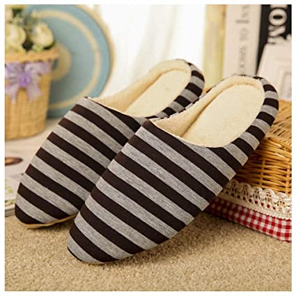 1dba62dd137 Tinpia Womens Slipper Women Striped Bottom Soft Home Slippers Warm Cotton  Shoes Women Indoor Slippers Slip