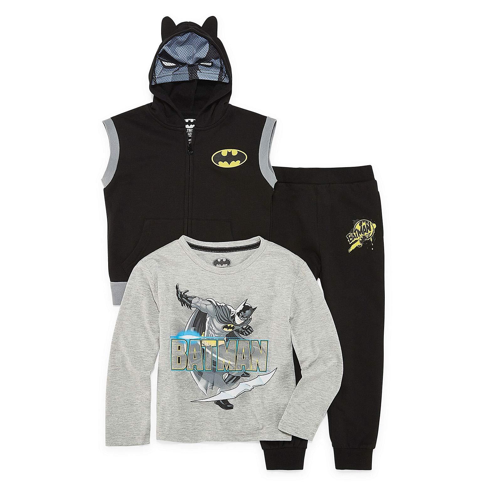 Extreme Concepts Batman 3-pc. Pant Shirt and Hoodie Vest Set-Toddler Boys' (3T)