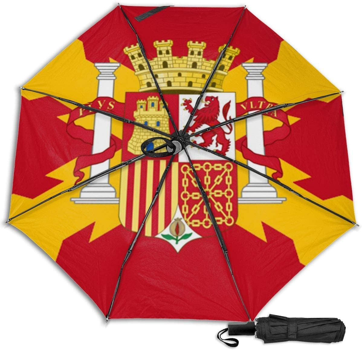 Bandera de España Manual Paraguas Plegable Plegable de Viaje ...
