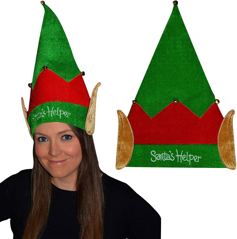 ELF SANTA REINDEER CHRISTMAS NOVELTY PARTY HAT FANCY DRESS STOCKING FILLERS