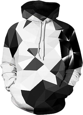 RAISEVERN Unisex 3D Printed Zip up Kapuzenpullover Neuheit gedrucktes beil/äufiges Sweatshirt Jacke Lustige Graffiti realistisch Mantel f/ür Herren Damen