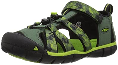 KEEN Toddler (1-4 Years) Newport H2 Black/Lime Green Sandal -