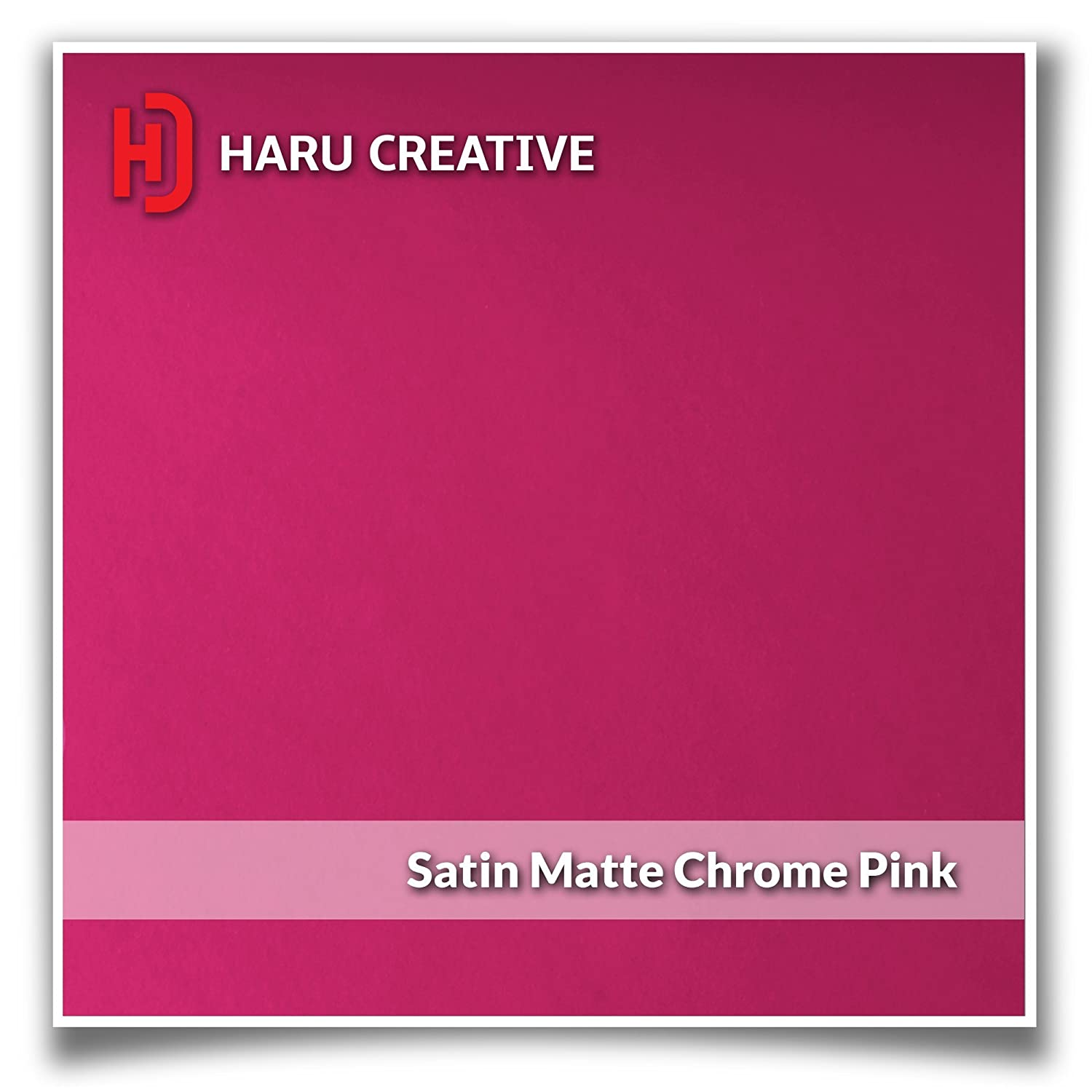 2008-2016 - Metallic Matte Chrome Pink Haru Creative Dashboard Glove Box Letter Insert Overlay Vinyl Decal Compatible with and Fits Ford Super Duty F250 F350 F450