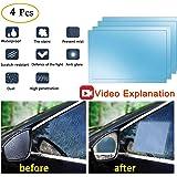 Anti Fog Film Car Rear View Mirror Waterproof Film protective film Anti Glare Rain-Proof Anti Water Mist, HD Nano Film Anti-glare,Anti-scratch,Rainproof Side window anti-fog film