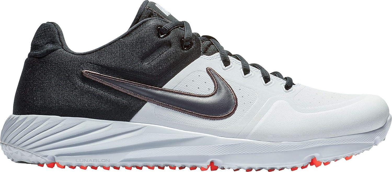Nike Mens Alpha Huarache Elite 2 Turf Baseball Cleats M11.0//W12.5, White//Grey