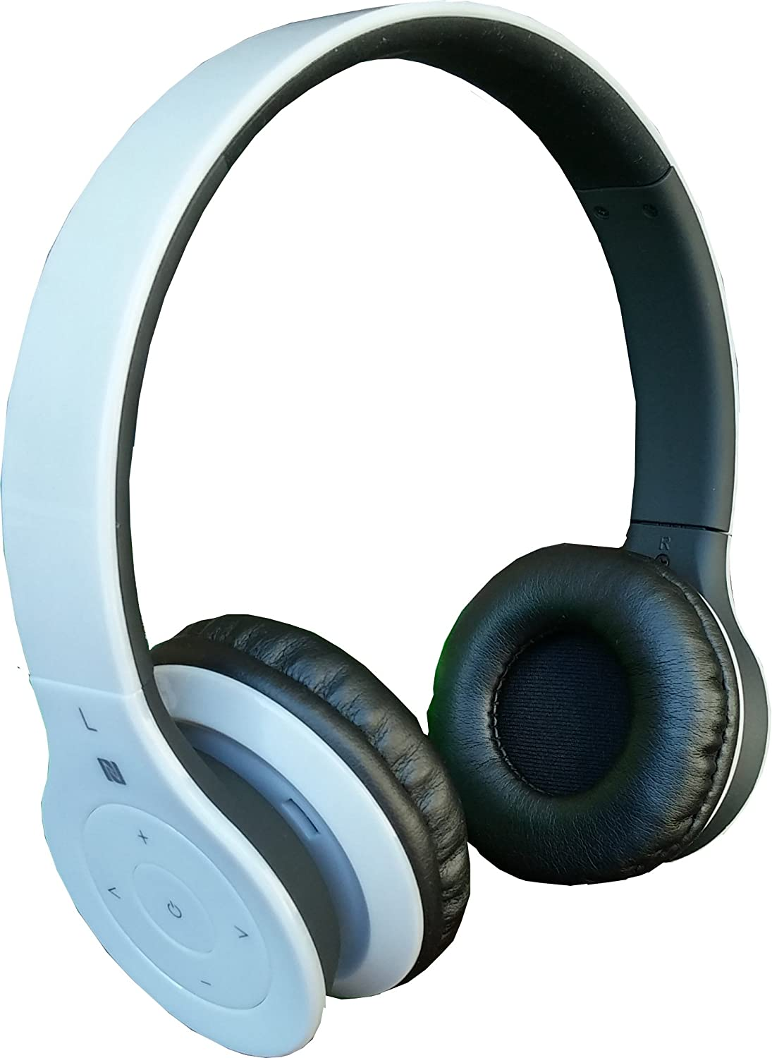 Alpha Digital BH-530-W Bluetooth Headphone with Soft Fit Ear Covers, Built-In Microphone, White