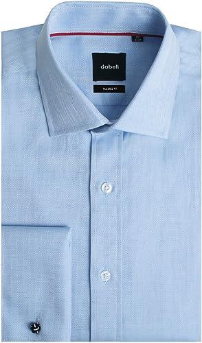 Camisa Azul Claro de Espiga Entallada Ajustada con puño ...