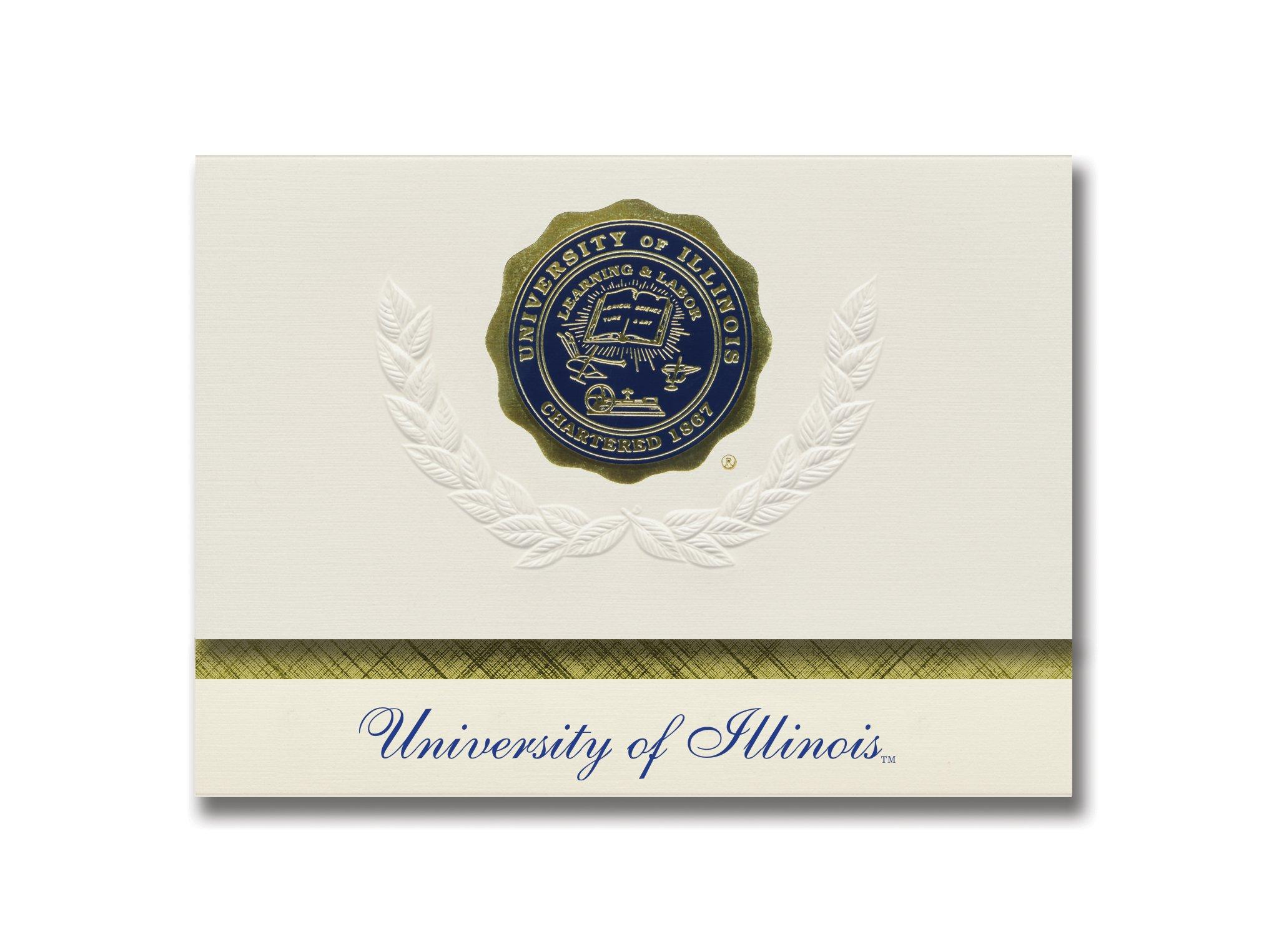 Signature Announcements University of Illinois at Urbana-Champaign Graduation Announcements, Platinum style, Elite Pack 20 with U. of Illinois-Urbana-Champaign Seal Foil