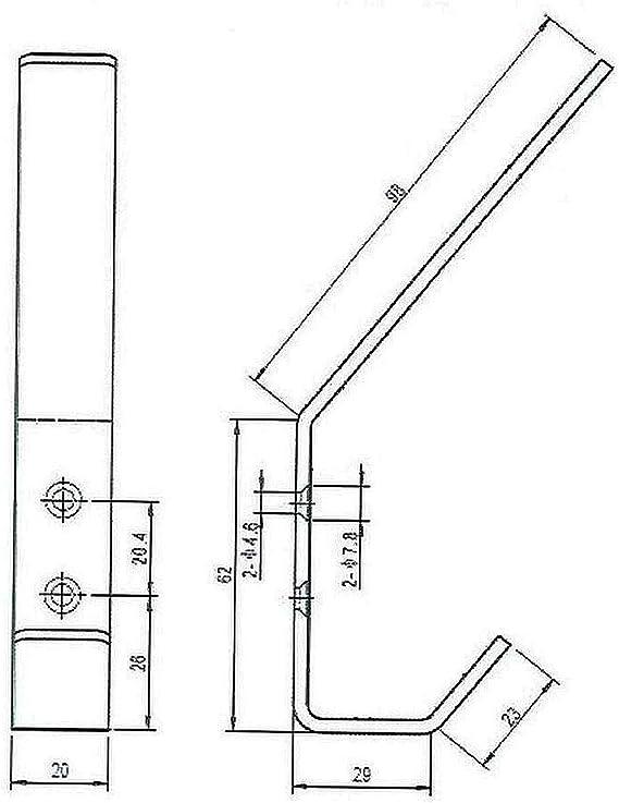 Garderobenhaken Edelstahl geb/ürstet Mantelhaken Kleiderhaken Wandhaken *510-KU