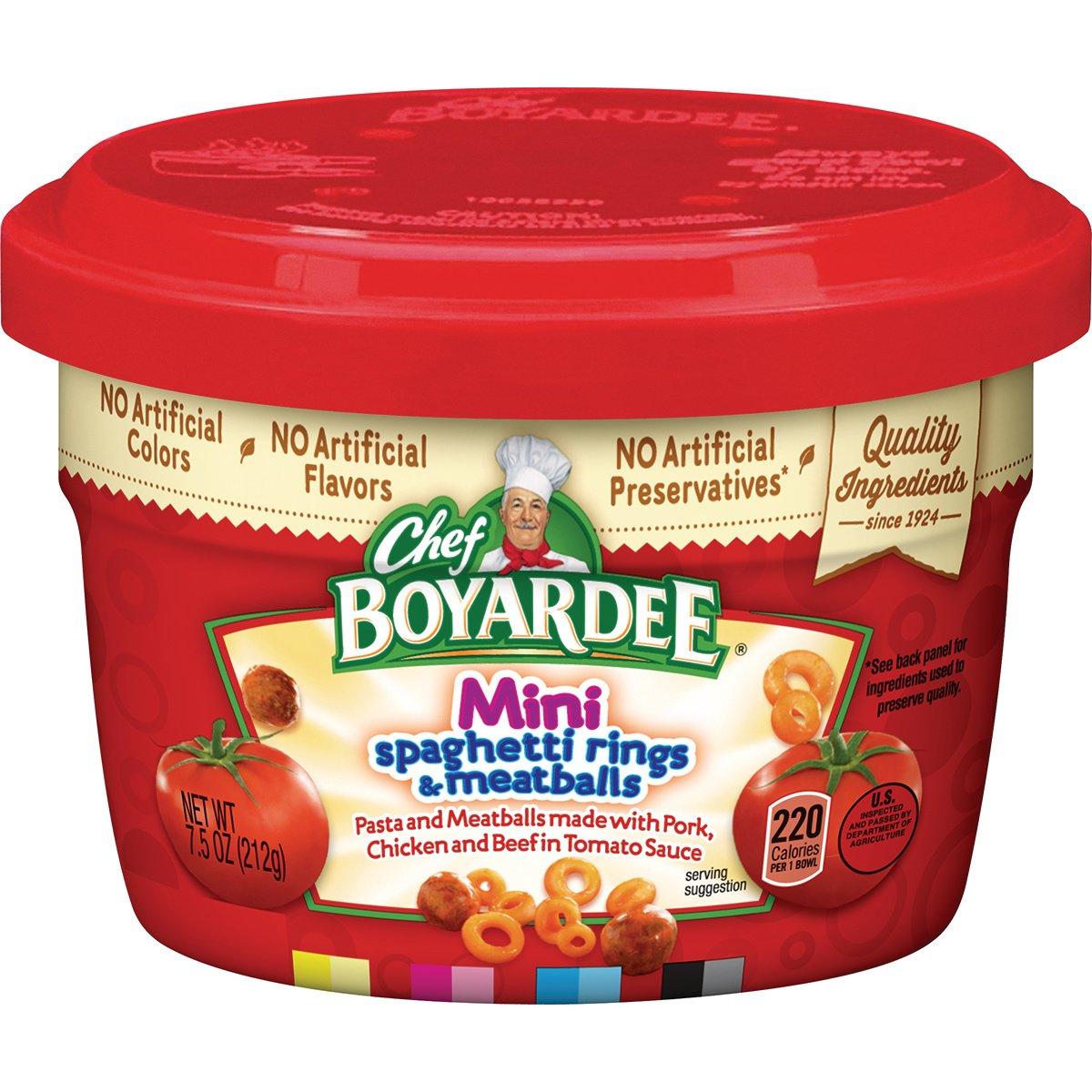 Chef Boyardee Mini-Bites Spaghetti Rings & Meatballs, 7.5 Oz.