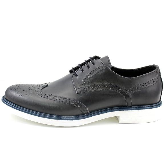 Made in Italia Giorgio, Chaussures de Ville à Lacets pour Homme - Gris - Gris foncé, EU 43 EU