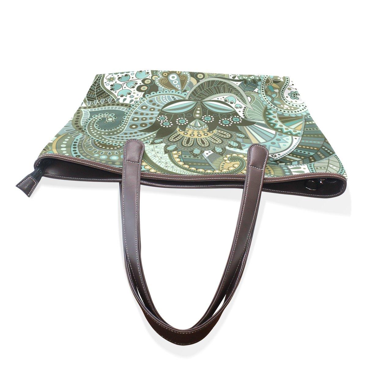 Bohemian Floral Print Womens Fashion Large Tote Shoulder Bag Ladies Handbag