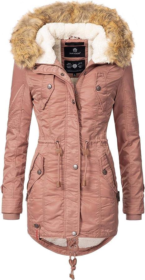 XS-L NUOVO! Parka da Donna Giacca XXL Pelo Sintetico Nero Verde Pink Rosa Cappotto Top Tg