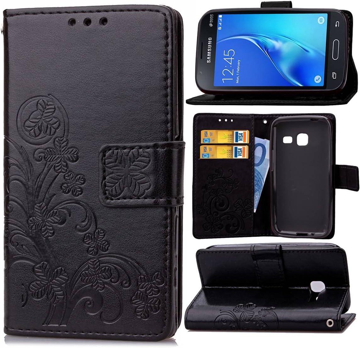 Guran® Funda de Cuero PU para Samsung Galaxy J1 Mini (4 Inch ...