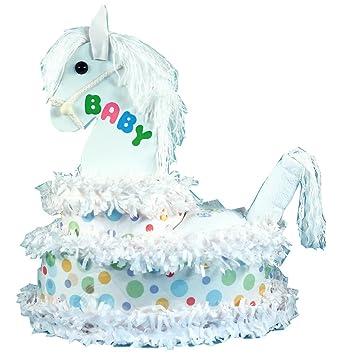 Amazon.com: my little pony tarta de pañales para bebé regalo ...