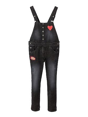 Abstand wählen Neue Produkte Online gehen Vertbaudet Vertbaudet Jeans-Latzhose für Mädchen, Stretch ...
