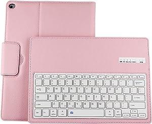 Binguowang Keyboard Case for iPad Mini 1 2 3 4 5 with Detachable Wireless Keyboard, Ultra Slim PU Leather Folio Stand Cover for iPad Mini1/2/3/4/5. (Pink)