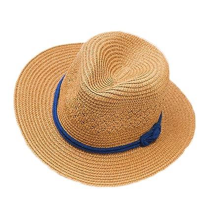 Kanggest Sombrero de Paja del Verano de los Niños Sombrero del Sol del Jazz  para los 703c0c9a3e9