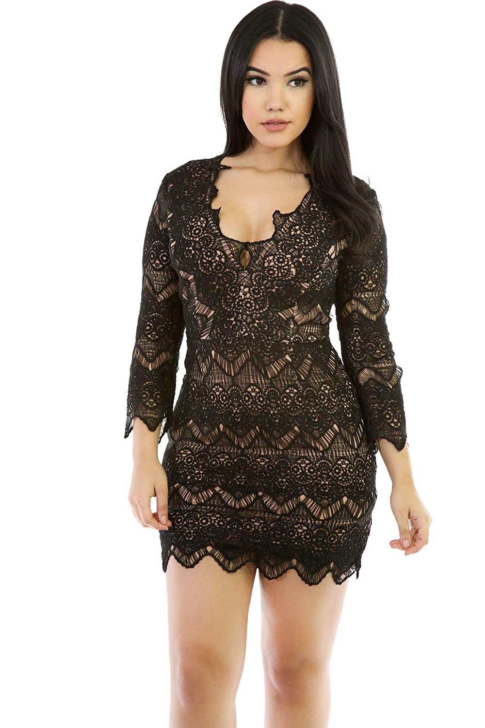 6ecb2710147 Amazon.com  You All Over Top Knit Dress  Clothing