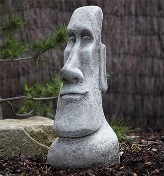 Bon Large Easter Island Head Statue   Male Head Sculpture