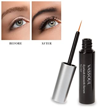 96f3453f9a4 Image Unavailable. Image not available for. Color: Natural Vassoul Eyelash  Growth Serum, Lash & Eyebrow Rapid Grows Longer Fuller Thicker ...
