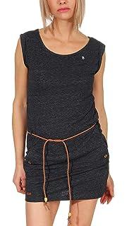 Ragwear Damen Shirtkleid Tag Zig Zag 1911//20021 Kleid Blue Neu
