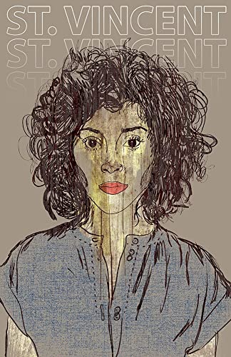 Saint Indie Rock Vincent Poster Limited Edition of 100 St