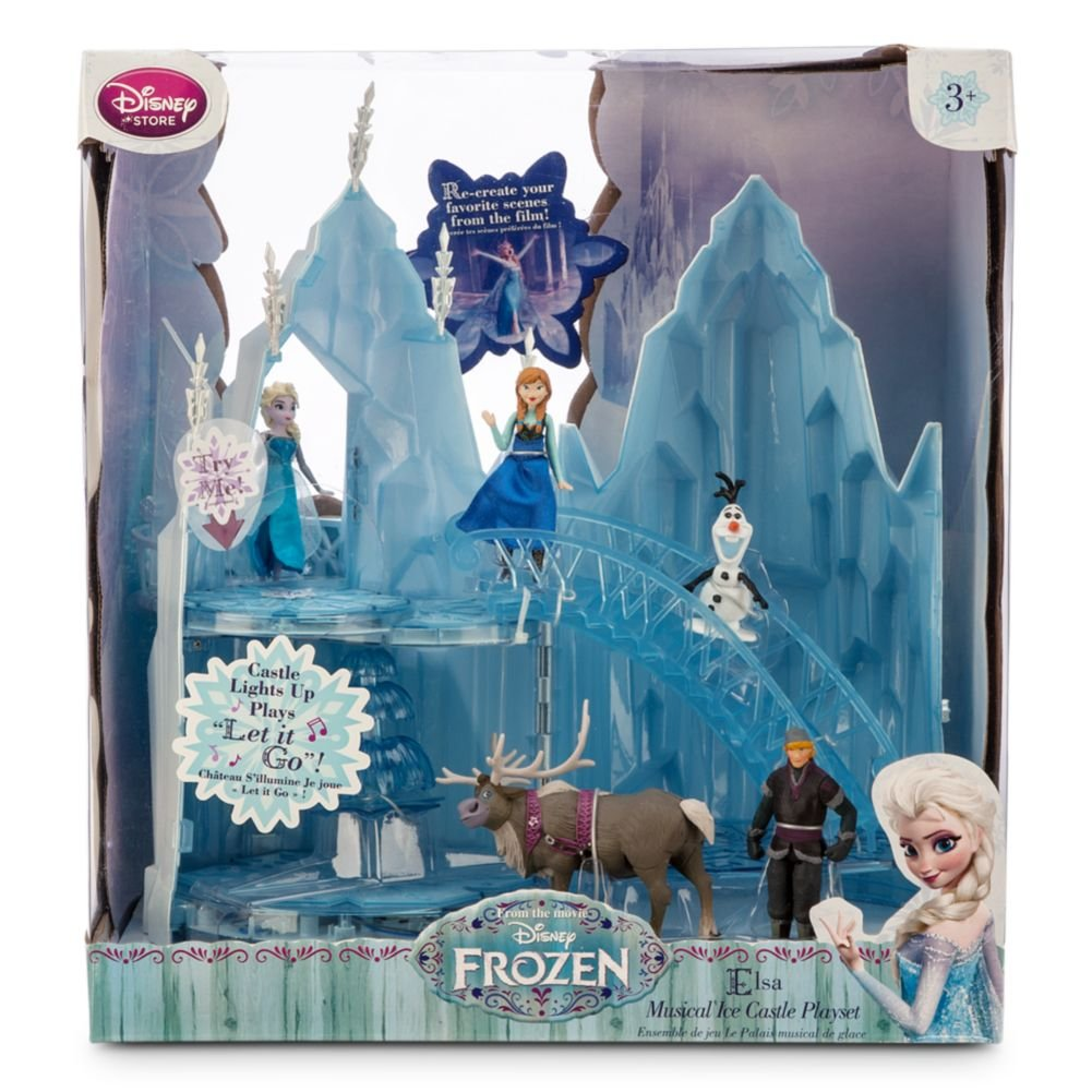 2014 Disney Frozen Elsa Musical Ice Castle Playset Olaf Sven Anna Kristoff Figures